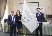 Флаг эстафеты Всемирной универсиады передан городу Алматы